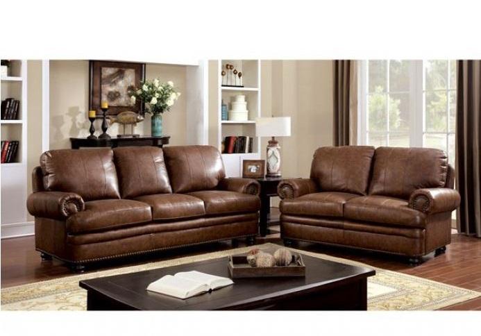 CM6318 Rheinhardt Top Grain Leather Match Sofa Set ...