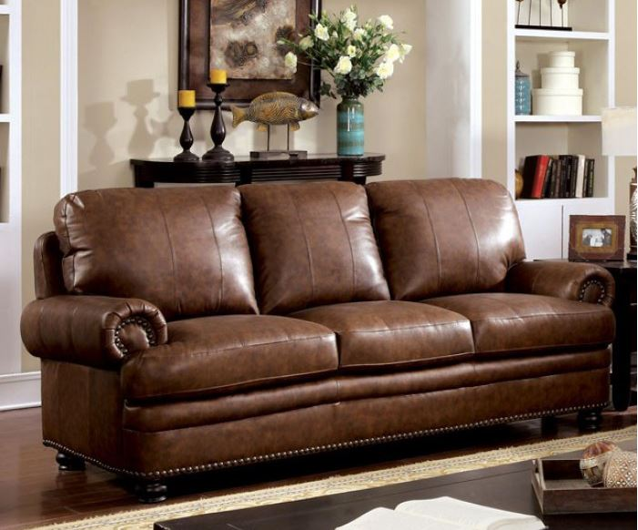 Leather Furniture Traveler Collection: CM6318 Rheinhardt Top Grain Leather Match Sofa Set Collection