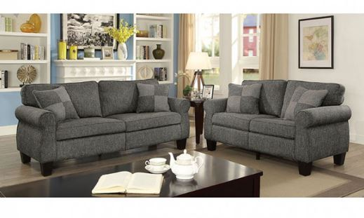 CM6328 Rhian Dark Grey Sofa Set Collection