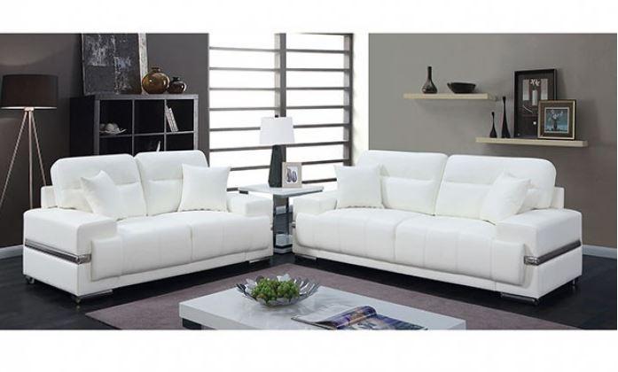 CM6411 Zibak White Sofa Collection