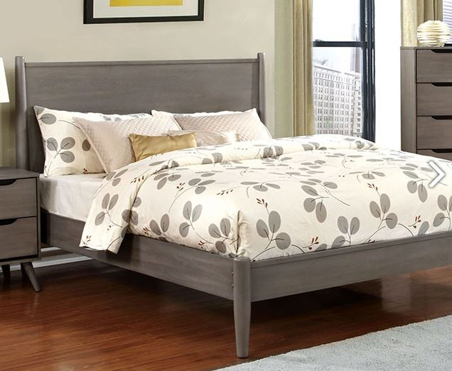 Cm7386gy Lennart Gray Bedroom Collection Wooden Headboard