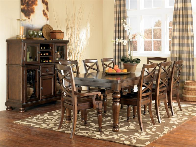 Porter Dining Set with Server with Storage by Ashley Furniture & Porter Dining Set by Ashley Furniture