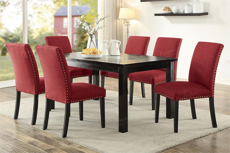 Red Dining Chair   Reno Dining Set Collection.