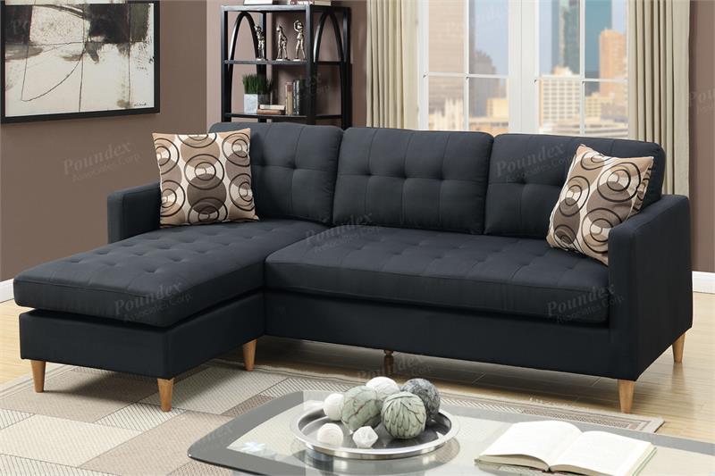 Reversible Sectional Sofa F7084 Poundex