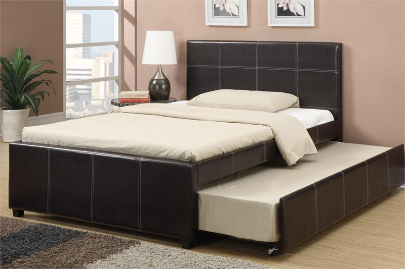 Bed With Trundle F9214 Poundex