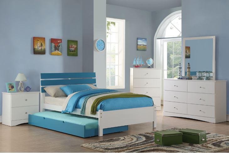 . Zara Blue Kids Bedroom Collection