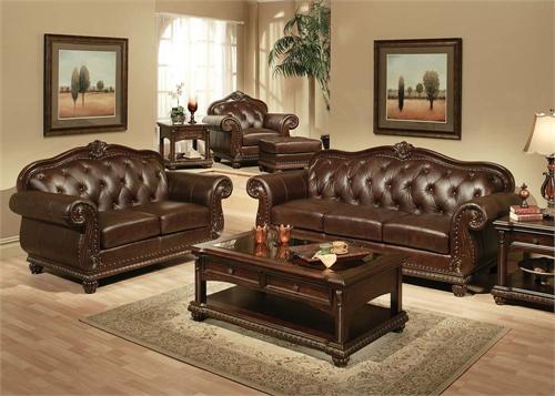 Anondale Acme Top Grain Leather Sofa Set