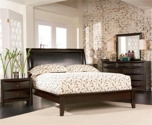 Espresso Platform Bedroom Set - Pheonix Collection