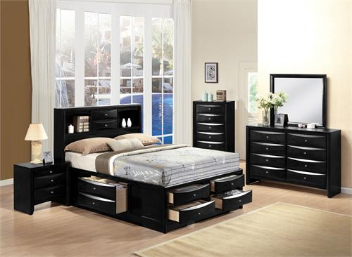Ireland Black Storage Bedroom Set by Acme Furniture