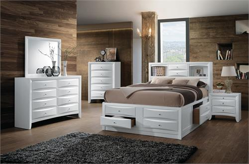 Ireland White Storage Bedroom Set by Acme Furniture