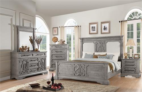 Artesia Collection Salvaged Natural Finish Bedroom Set by Acme Furniture