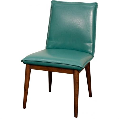 Merveilleux Turquoise Lara Bonded Leather Chair ...