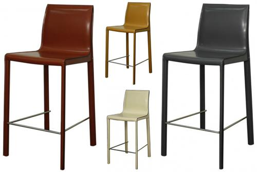 78b575ee6478 Gervin Recycled Leather Counter Stool Item 448526R