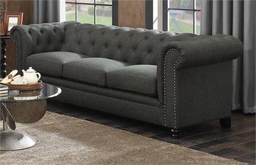 Roy Grey Linen Sofa Collection