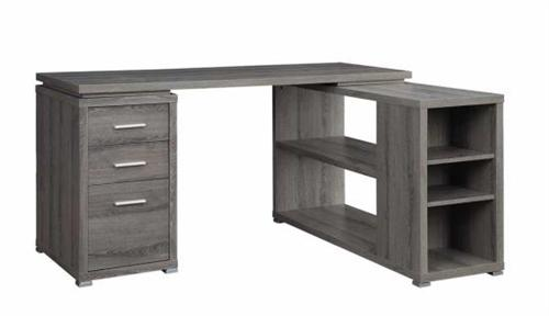 Weathered Grey Office Desk Yvette Collection