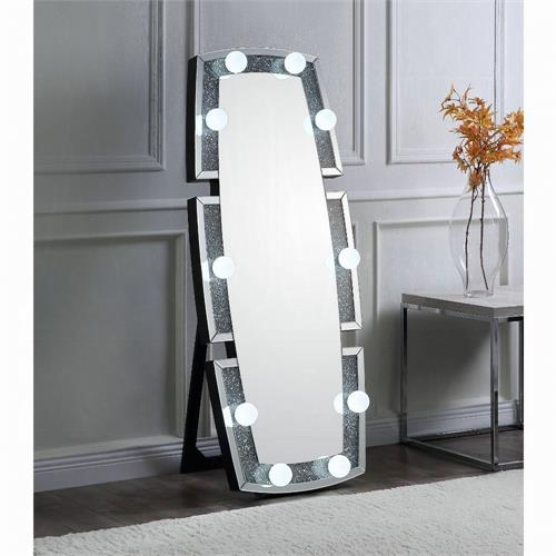 Noralie Mirror Wall Decor with Faux Diamond, 97759 acme