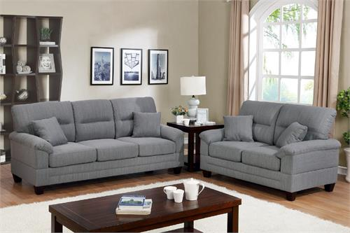 Sofa and Loveseat Set F6405 Poundex