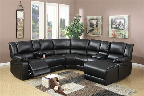 Reclining Sectional Poundex F6745,f6745 poundex
