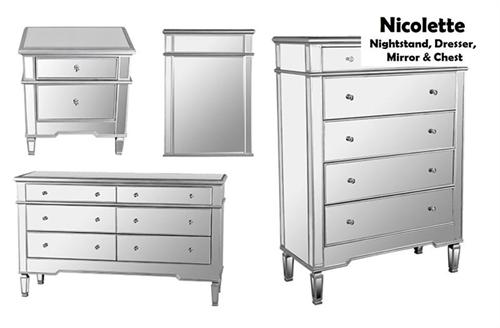 rio dresser dressing table crystal chest drawer mirrored furniture mirror