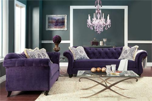 plush couch mid ultra modern livings room living com amazon sofa linen dp ac fabric velvet century purple