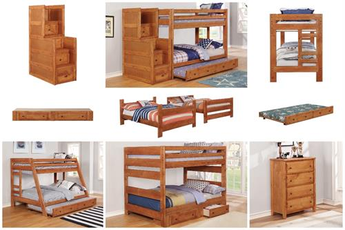 Wrangle Hill Bunk Bed Collection Amber Wash Finish by Coaster