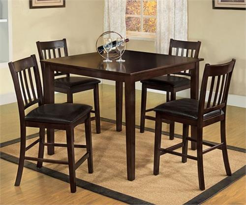Northvalle II Espresso 5 Piece Counter Height Dining