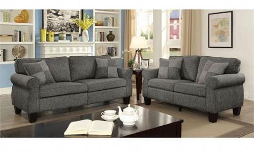 CM6328 Rhian Dark Grey Sofa Set Collection