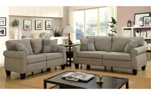Rhian Light Grey Sofa Set Collection