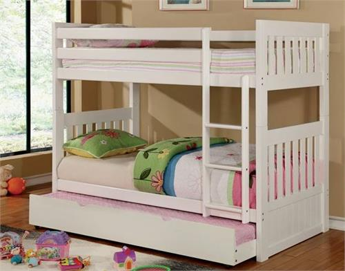 Canberra Ii White Bunk Bed