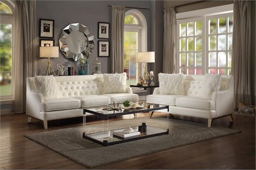 Ordinaire Nevaun Cream Sofa Set Collection