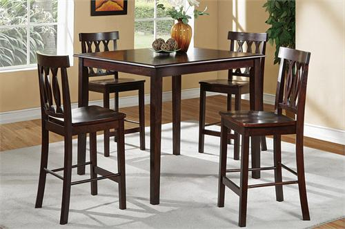 5 Piece Brown Counter Height Dining Set