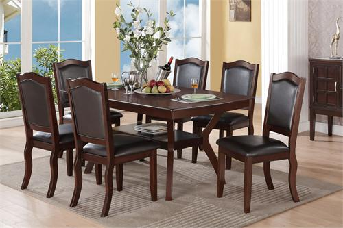Imperial Dining Set Poundex F2290-F1338 on paris dining set, fulton dining set, graham dining set, tyler dining set, vernon dining set, hudson dining set, burke dining set, wilson dining set, madison dining set, addison dining set, barry dining set, eden dining set, hamilton dining set, parker dining set, venus dining set, covington dining set, rochester dining set, clayton dining set, pulaski dining set, arlington dining set,