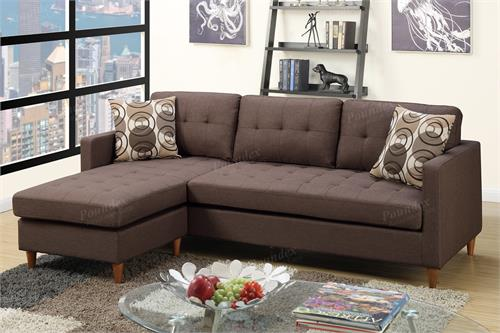 Reversible Sectional Sofa F7086 Poundex