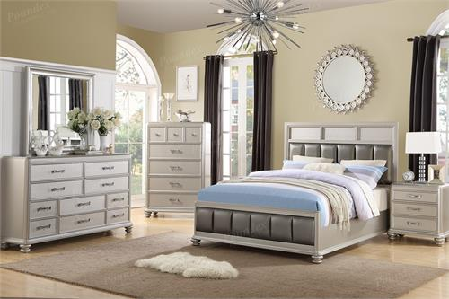 master king bedroom sets f9356 poundex luciana bedroom collection 16164