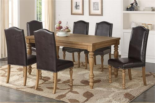 Kay 7 Piece Dining Set & F2445 Poundex Kay 7 Piece Dining Set