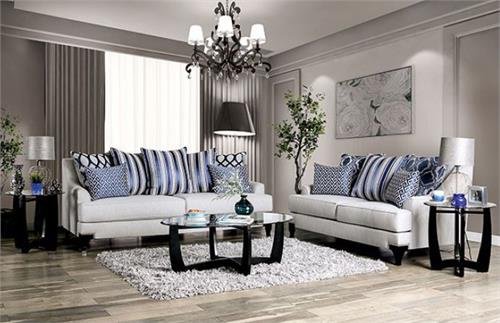 Sisseton Light Grey Sofa Collection,sm2207 furniture of america,sm2207 sofa
