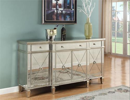 mirrored sideboard table mirror sideboard t1830 4166