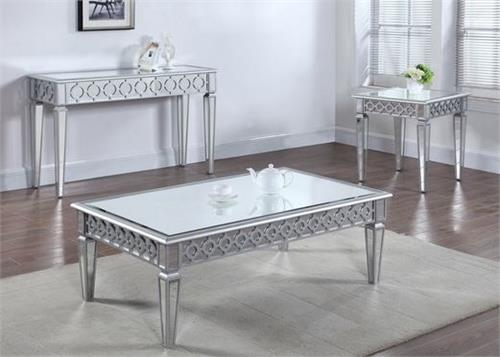 Silver Mirror Coffee Table And Sofa