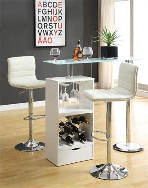 White Revolving Bar Table Item #120452