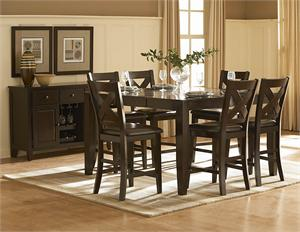 Crown Point Counter Collection,counter height dining set,1372-36 homelegance