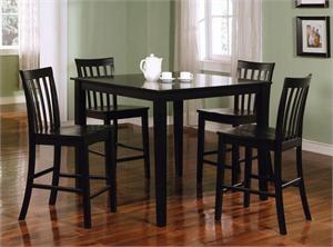 5 Piece Black Counter Height Set item 150231BLK