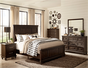 Cardano Bedroom Set Charcoal Finish by Homelegance Item 1689