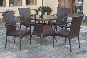 5 Piece Outdoor Dining Set,191 poundex