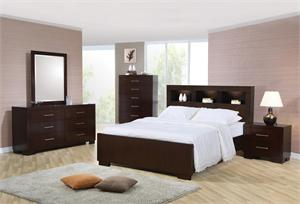 Bookcase Headboard Jessica Bedroom Set by Coaster Furniture item 200719