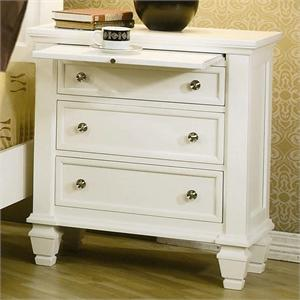 Nightstand Sandy Beach White Bedroom Collection item 201302 by Coaster Furniture