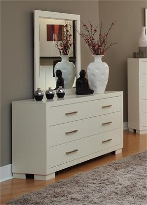 Dresser & Mirror White Jessica Collection by Coaster item 202993 & 202994
