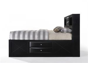 Ireland Black Storage Bed Acme item 21610 Side view