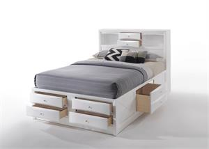 Ireland White Storage Bed by Acme Furniture Item 21700Q Open Drawers