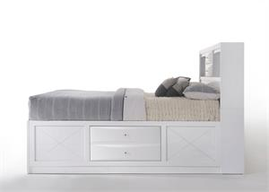Ireland White Storage Bed by Acme Furniture Item 21700Q Side View