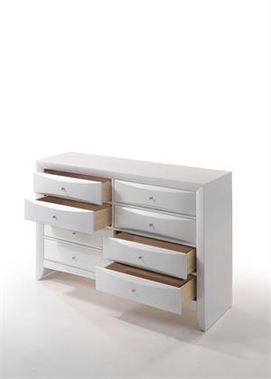 Ireland White Dresser by Acme Furniture Item 21706 Open Drawers
